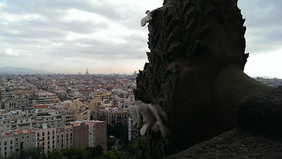 "Gaudí's Sagrada Familia. From the ""Christmas Tree"" tower."