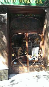 Deco doors on a pharmacy.