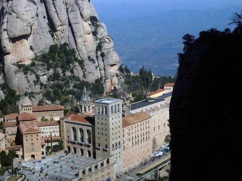 The monastery at Montserrat. Precarious.