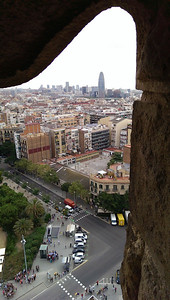 View from Gaudí's Sagrada Familia.