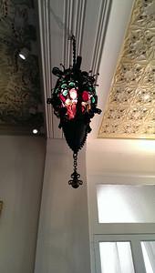 Inside Gaudí's house at Park Guell.