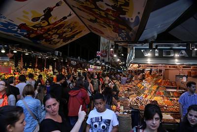 Indoor market, teeming with people