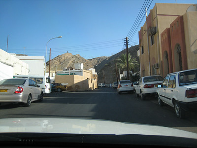 The main road south, Muscat style.