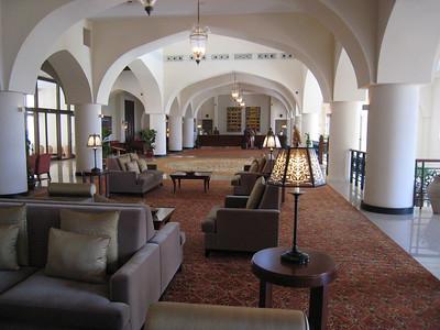 Hotel foyer.