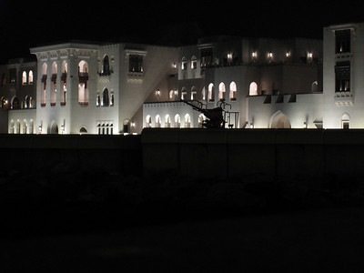 More of Sultan Qaboos' palace, note the anti aircraft gun.