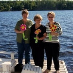 Mary Jane, Cheryl, Me - at the cottage