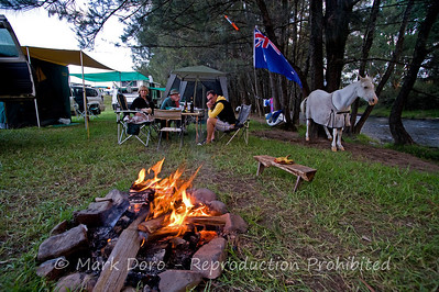 The great australian campfire, Cobark River, Barrington Tops, NSW