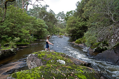 Tom and Bart, fishing the Manning River, Barrington Tops, NSW