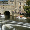 Pulteney Bridge, weir & cruise boats