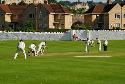 A game of cricket at the Bath Cricket Club