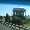an interesting water tower outside Redding, CA