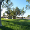 Nice grassy areas with places to eat