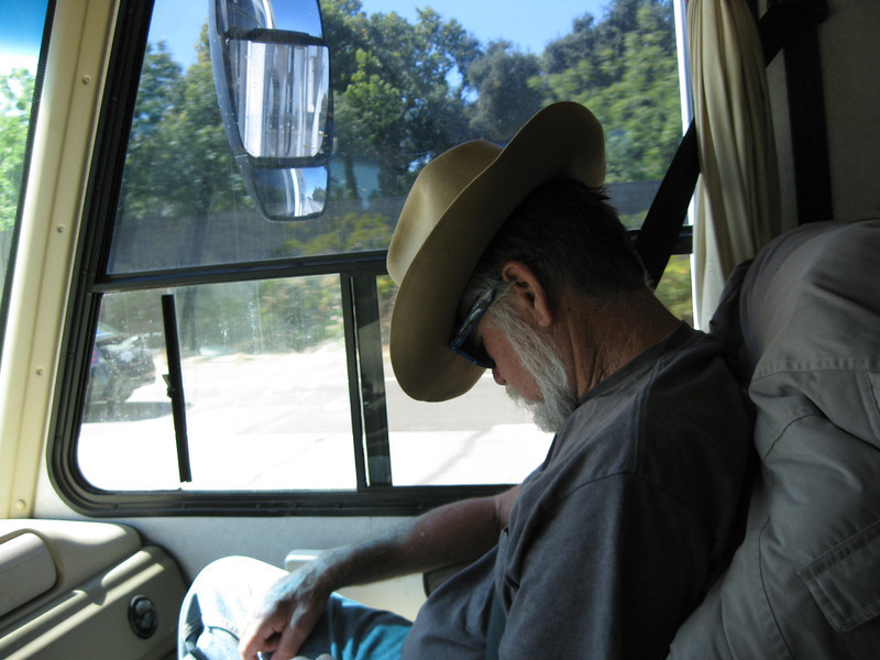 Apparently we got on the road too early for VWV....<br /> <br /> Oh, my mistake!  He's probably just reading the map!