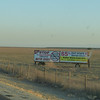 Who knew the farmers up in the Central Valley are so radical?  <br /> There were a LOT of these dry dusty fields with signs in them.