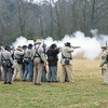 "Confederate platoon ""putting lead in the air""."