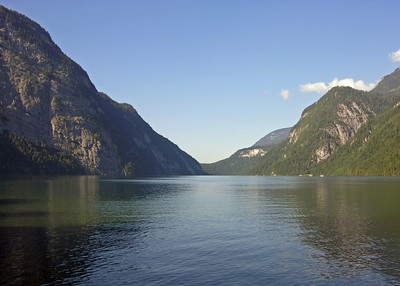 View of the Königsee from St. Bartholomew peninsula.