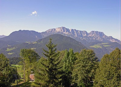 View from room 360 at the InterContinental Berchtesgaden, Obersalzburg.