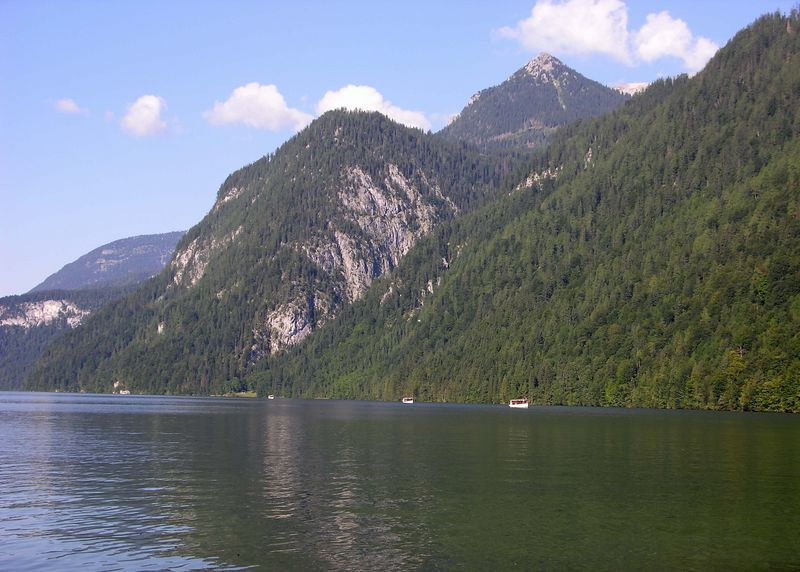 Western mountains along the Königsee.