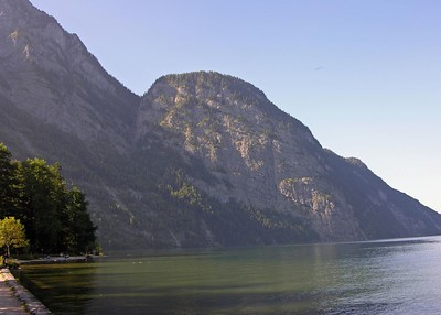 Along the shoreline of the Königsee.