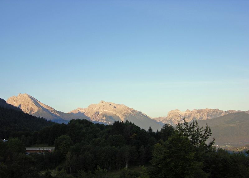 Early Morning view from room 360 at the InterContinental Berchtesgaden, Obersalzburg.