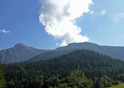 View of Eagles Nest from Intercontinental Berchtesgaden.