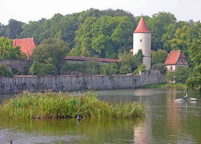 Another view of the Faulturn Tower or prison across the Gaulweiher pond.