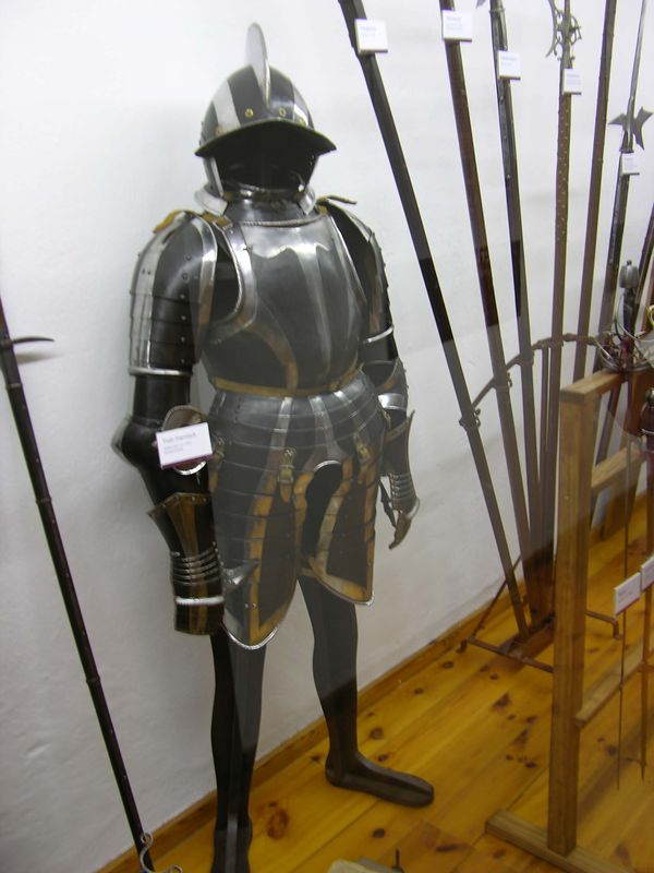 View of medieval armor.