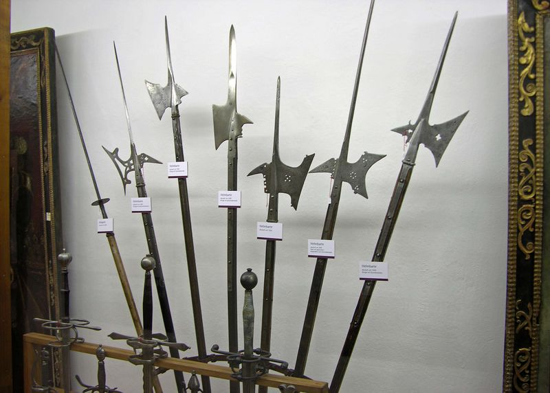 Medieval pikes and axes.