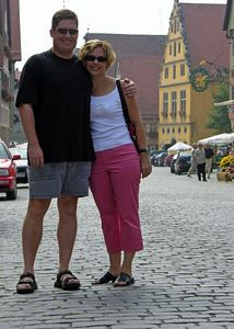 Brett and Jodi along Dr. Martin Luther Strasse.