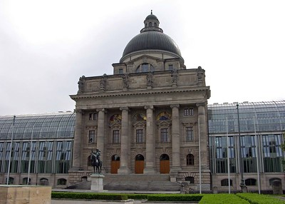 Bavarian State Chancellory which was a war museum before WWII.