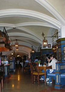 Inside the Rathauskeller restaurant.