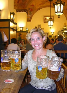 Jodi the Beer Maid at the Hofbräuhaus.