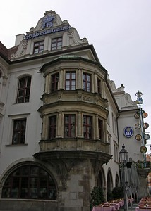 View of the Hofbräuhaus.