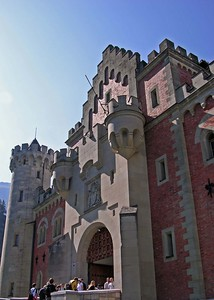 Entrance to Neuschwanstein.