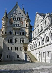 Upper courtyard view of Neuschwanstein.