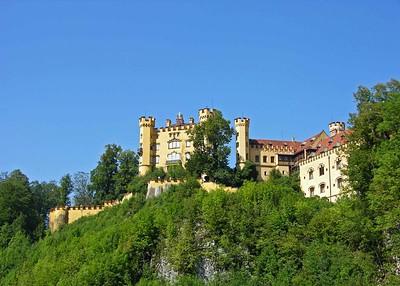 View of Schloss Hohenschwangau from Hohenschwangau village.