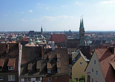 View of Nuremberg from in front of the Sinwell Tower.