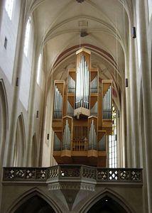 Organ of St. Jakob's Church.