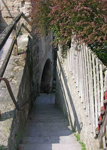 Staircase below the city wall.