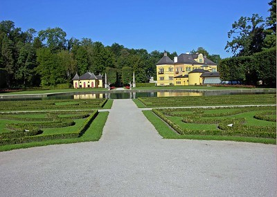 Gardens at Helbrunn Palace.