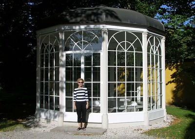"The Glass Gazebo at Hellbrunn is one of the main sites from the Sound of Music film and was the setting for various love scenes, like ""Sixteen Going on Seventeen"" and ""Something Good"". After a complete renovation, it was reconstructed in the park of Hellbrunn Palace. This is not the original setting, which was the garden of Leopoldskron Palace, but a more accessible one for visitors."