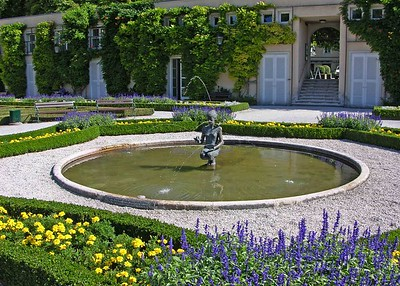 Fountain in the Mirabell Gardens.