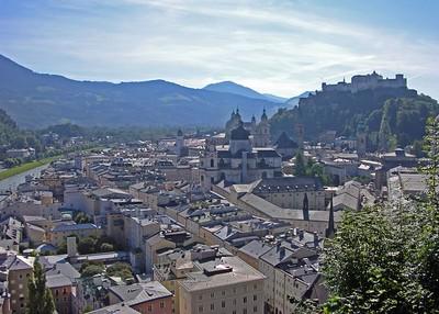 View of Salzburg's Altstadt.