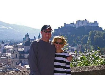 Brett & Jodi above Salzburg.