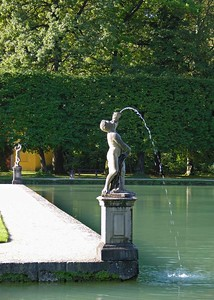 Fountains at Helbrunn Palace.
