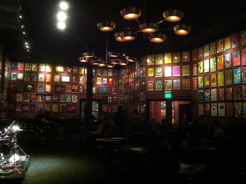 One of the two poster rooms at the Fillmore.