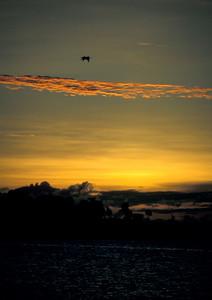 © Joseph Dougherty. All rights reserved.  Early sunrise over Anthony's Key, Roatan, Honduras.