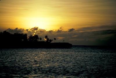 © Joseph Dougherty. All rights reserved.  Sunrise over Bailey's Key, Roatan, Bay Islands, Honduras.
