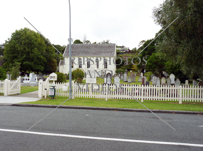 Anglican Church and cemetery at Bay of Islands, New Zealand.