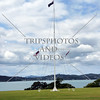 Flag pole on Waitangi Treaty Grounds in Bay of Islands, New Zealand.